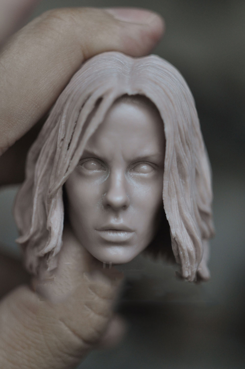 1/6 Kate Beckinsale Unpainted Blank Head for 12Figures Bodies