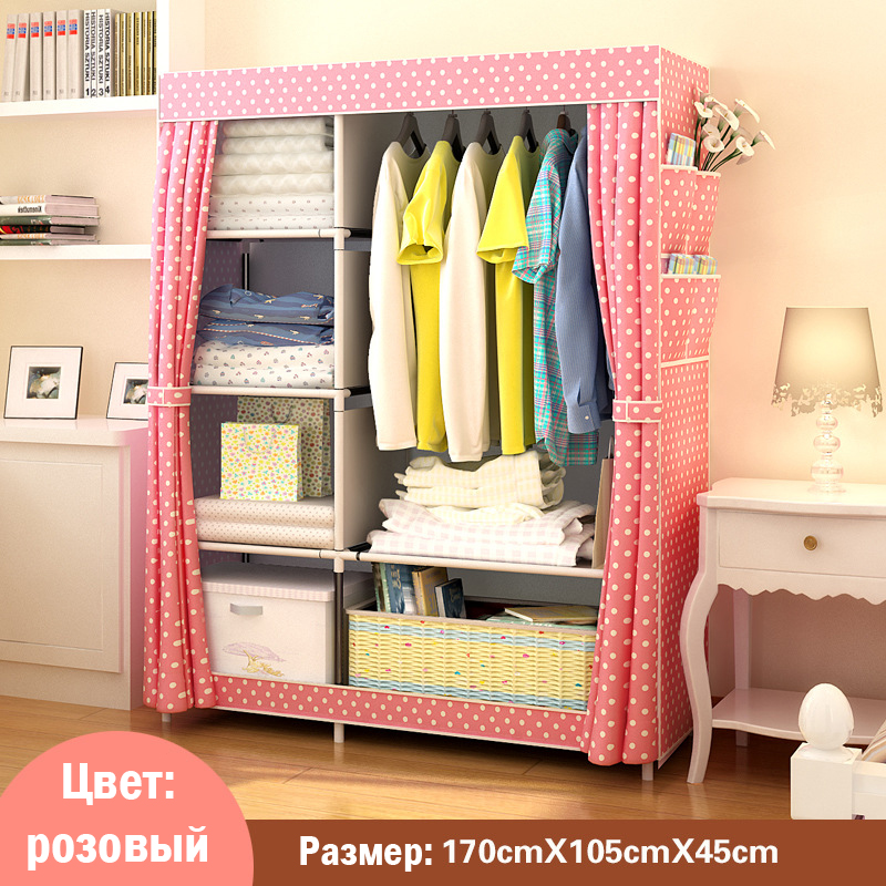 Image 4 - When The Quarter Wardrobe DIY Non woven Fold Portable Storage Cabinet Multifunction Dustproof Moistureproof Closet-in Wardrobes from Furniture