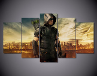 5Piece Home Decor Canvas Painting Wall Art Pictures For Living Room Green Arrow Man TV Series Print Decora Wall Poster Frameless