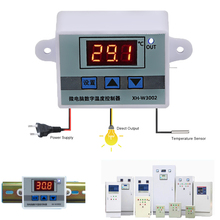 XH-W3002 LED Digital Temperature Controller AC 110V 220V 12V 24V Thermostat Regulator 10A Heating Cooling Switch
