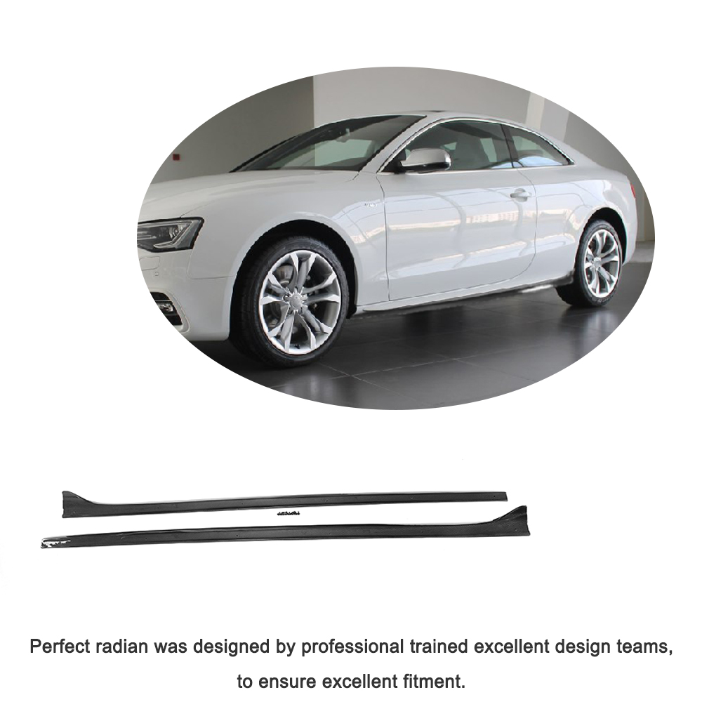 Carbon Fiber FRP Side Skirts Extension For Audi A A S Line - 2 door audi