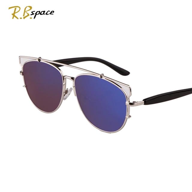 Cheap RBspace Brand Ms. big box Sunglasses Oval big Lenses frog mirror Polarization UV400  Luxury retro women's sunglasses Unisex