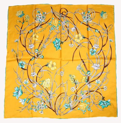 ELEGANT HANDMADE BRAND 100%Twill Silk Scarf TWIC-149545