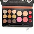 Professional Makeup 2 Face Powder + 2 Blush make up blush + 3 Lip Cream +9 Glitter Powder Nude Eyeshadow Palette Full Makeup Set