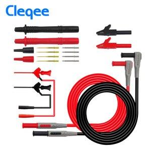 Image 4 - Cleqee P1300 Series Replaceable Multimeter Probe Probes Test Hook&Test Lead kit kits 4mm Banana Plug Alligator Clip Test Leads