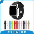 Banda de caucho de silicona con adaptador de enlace para iwatch apple watch sport edition 38mm 42mm correa de reloj de pulsera correa de 1:1 como original