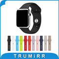 Faixa de borracha de silicone com link adaptador para apple watch edição esporte iwatch 38mm 42mm pulseira strap pulseira 1:1 como original