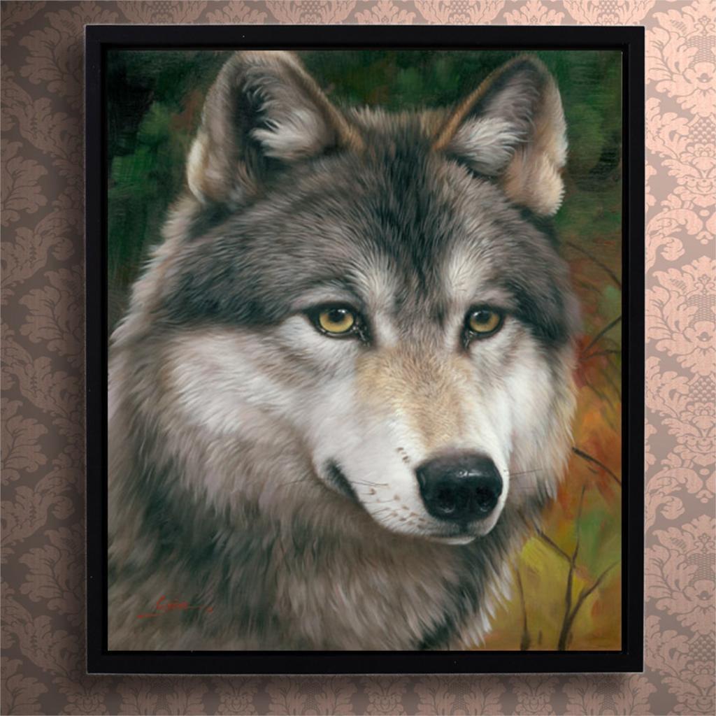 Qualität Hohe Tier Ölgemälde Wolf Bild Gedruckt Auf Leinwand ...