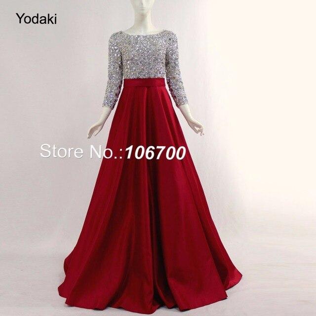 Echt Fotos Lange Ärmeln Arabisch Ballkleid Prom Kleider Hand Machen ...