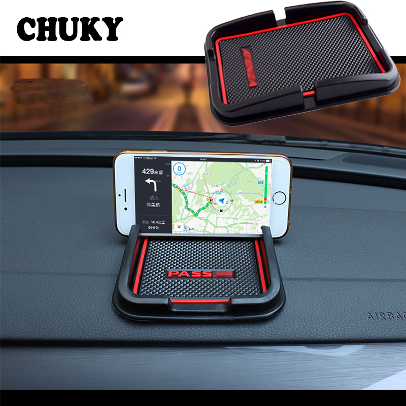 Phone Holder Anti-Slip Mat Car Logo For Kia Rio 2 3 4 K2 <font><b>Suzuki</b></font> Swift Vitara <font><b>SX4</b></font> Lada vesta granta priora Accessories 2018 <font><b>2019</b></font> image