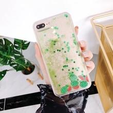 Quicksand Capinha Case For iPhone 7 7Plus 8 8Plus 6 6s Plus Dynamic Liquid Hard PC X XR XS Max Capa ipone