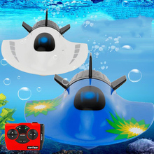 RC Submarine Mini RC Fishing Boat High Speed Racing Boat 27mhz Radio Remote Control Submarine Toys for Children Gift Outdoor Toy pilotage mini submarine серая rc13688