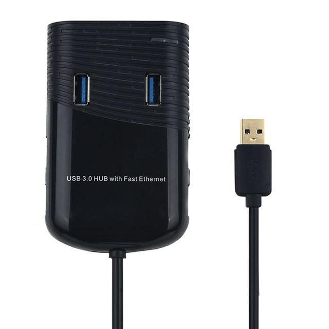 Venda quente moda Nova 8119 Super Speed 6 Portas USB 3.0 HUB Com Adaptador Fast Ethernet Apenas para você