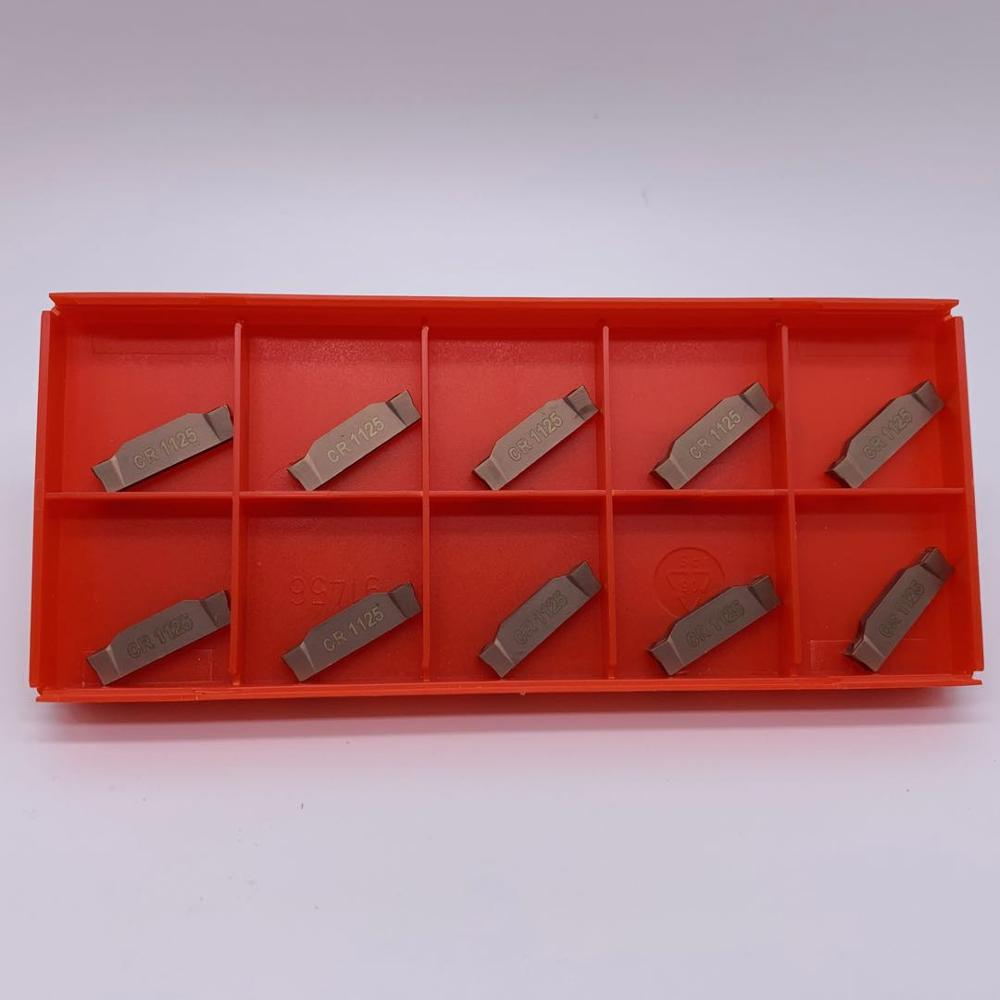 50pcs N123G2 0300 0003 CR 1125 grooving carbide inserts N123G2 lathe cutter turning tool Parting and