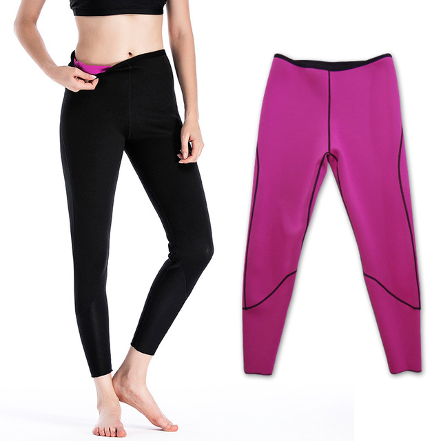 f60b05e0147b6 Womens Slimming Neoprene Hot Thermo Long Pants Yoga Leggings Latex Waist  Girdle Cincher Trainer Sweat Body
