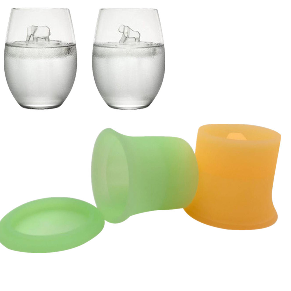 2 PCs Ice Cube Mould Food Grade Silicone Summer DIY Ice Maker Tray Cool 3D Animal Shape Ice Mold #10
