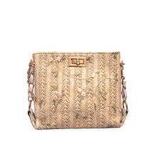 купить Hand-woven Women Straw Bag Ladies Small Shoulder Bags Bohemia Beach Bag Crossbody Bags Messenger Handbag Tote Fashion дешево