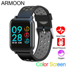 Inteligenty zegarek sportowy SN60 Android IOS tętno bransoletka męska i damska ciśnienie krwi Fitness Tracker kolor wodoodporny aktywności pasek