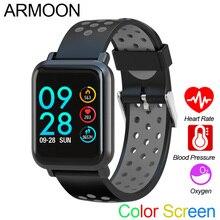 สมาร์ทกีฬานาฬิกา SN60 Android IOS Heart Rate สร้อยข้อมือผู้หญิงความดันโลหิตฟิตเนส Tracker กันน้ำกิจกรรม