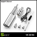 Updated E-Cigarettes Vapor Storm VX30 Kit 8.5v/30w 3-in-1 Box Mod kit shisha Dry herb vaporizer with 2200mah built-in battery