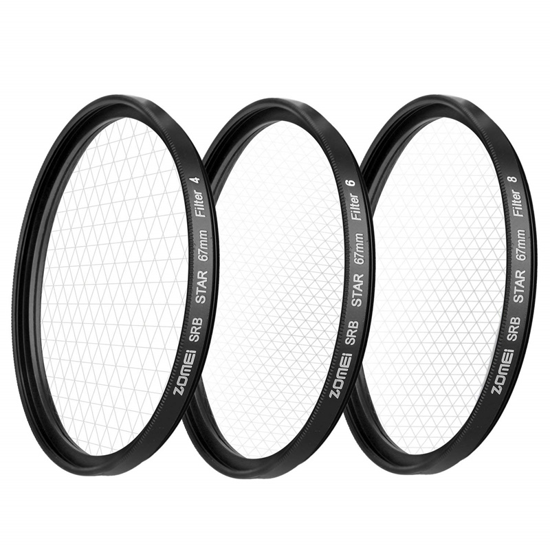 ZOMEI Star Filters Camera Lens Kit 4 Points 6 Points 8 Points Star Filter for Canon Nikon Sony Olympus DSLR Camera Accessories-16