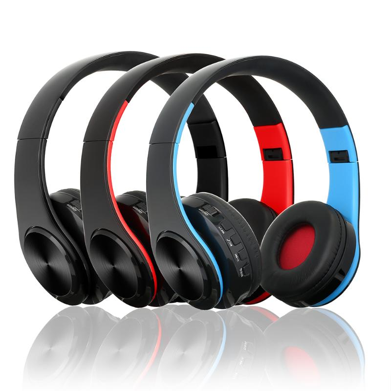 Universal Foldable Wireless Bluetooth Headphone Stereo Auriculares Bluetooth Headset Support TF Card/3.5mm Aux Input/Calls 7 hd 2din car stereo bluetooth mp5 player gps navigation support tf usb aux fm radio rearview camera fm radio usb tf aux