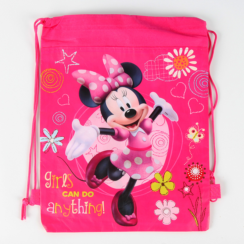 20pcs Minnie mouse theme Children School Bags Backpack Boy Bag Shopping Bag Happy Birthday Party Supplies Gift Boys Favor