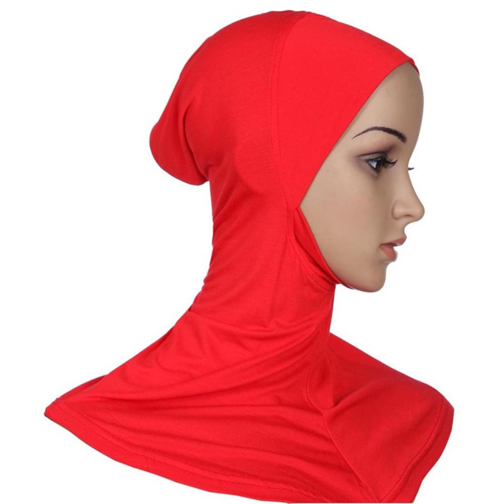 Islamic Clothing Djgrster Soft Stretchble Muslim Sport Inner Hijab Caps Islamic Underscarf Hats Crossover Classic Style Hijab Headwear Full Cover Traditional & Cultural Wear