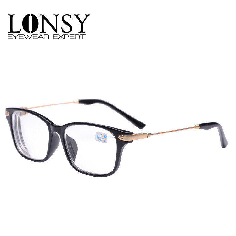 6dd4b2e472 LONSY Fashion Clear lenses Myopia Glasses Women Men Black Prescription  Eyewear -1.0 -1.5 -