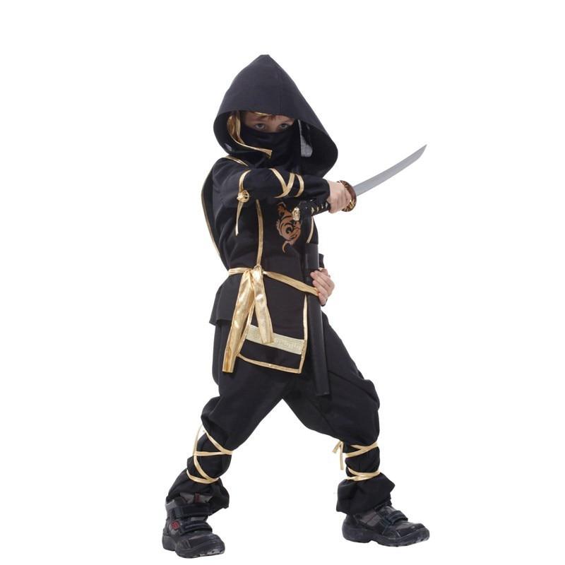 Kids Dragon Ninja Cosplay Costumes Birthday Carnival Party Boys Warrior Stealth Fancy Costumes 4