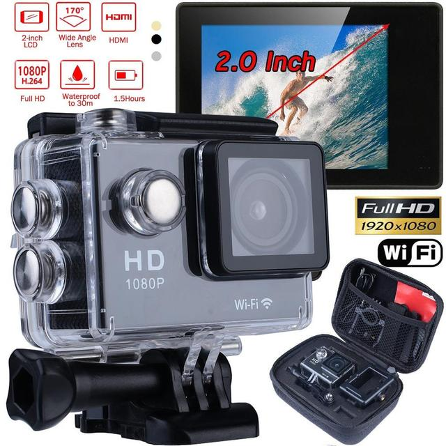 "SJ4000 Câmera de Ação Wi-fi 1080 P HD 4 K 2.0 ""Sports Video Camera DV Camcorder Com Waterproof Case Shell Kits de Viagem Definido"