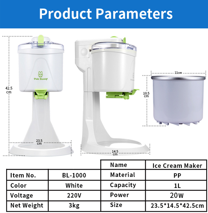 Fully Automatic Mini Fruit Ice Cream Maker for Home with 1L capacity and Unique Star Mold to make Delicious Fruit and Milk Ice Cream 5