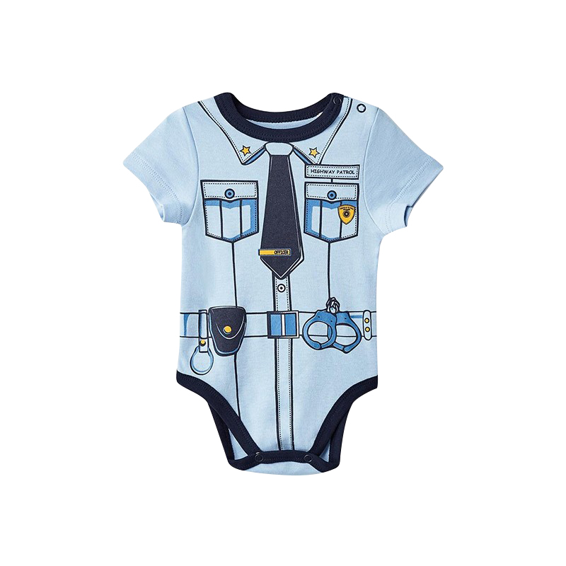 Bodysuits MODIS M182K00022 for baby boys kids clothes children clothes TmallFS chic quality cartoon baby clothes pattern removeable wall stickers