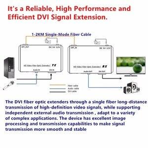 Image 4 - HD1080p DVI موسع المرسل الإرسال/استقبال DVI + الصوت إشارة بواسطة واحد وضع الألياف كابل 2 كجم LC موصل ل CCTV شحن مجاني