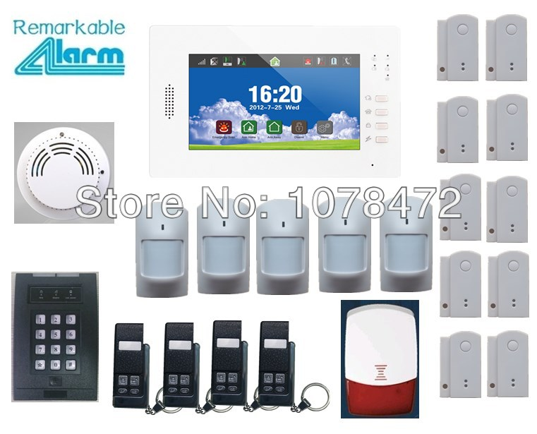7 inch touch screen 868MHZ alarm with English/German/Italian/Dutch/French/Czech/Finnish for option,home secure GSM alarm system gsm alarm system with multi language english german italian dutch menu for option home security 7 inch touch screen home alarm
