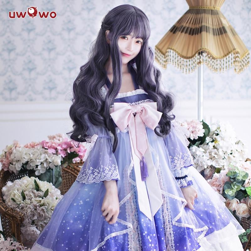 UWOWO Anime Sakura Card Captor Cosplay Tomoyu Daidouji Doujin Costume Women Halloween Cosplay Girls Kawaii Costume