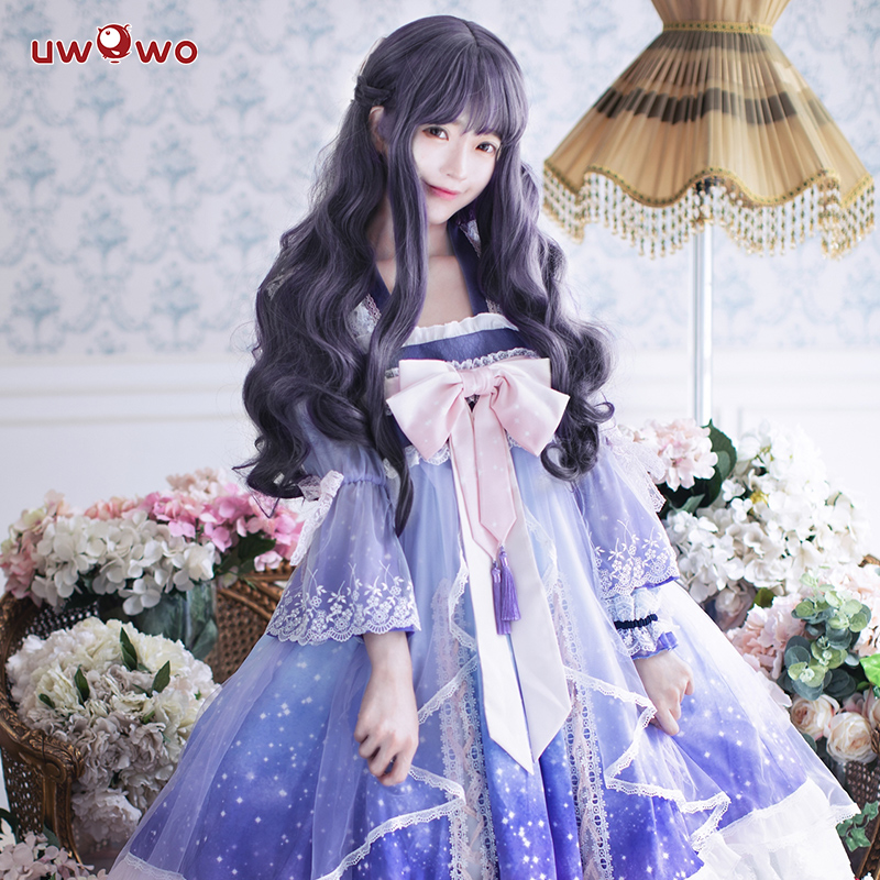 Uwowo anime sakura cartão captor cosplay tomoyu daidoujin traje feminino halloween cosplay meninas kawaii traje cardcaptor