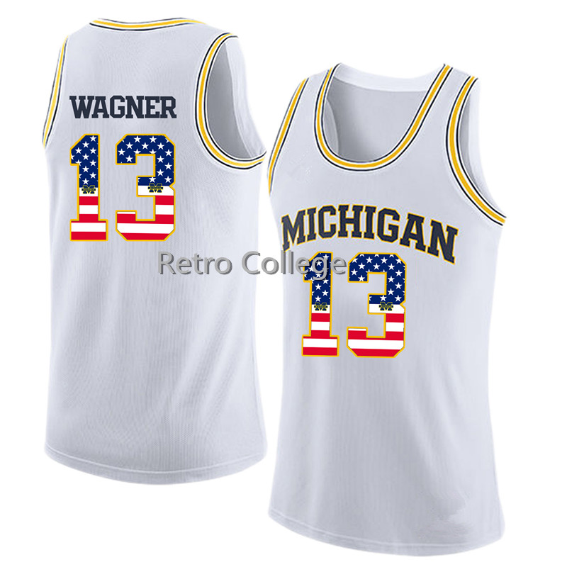 e0b355c01 Michigan State Basketball Jersey 13 Moritz Wagner THROWBACK Yellow Custom  any Size