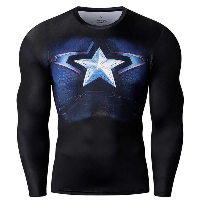 Компрессионная рубашка Лидер продаж модные фитнес мужские Косплей Кроссфит плюс размер Бодибилдинг футболка 3D печатных кофты СУПЕРМЕНА для мужчин