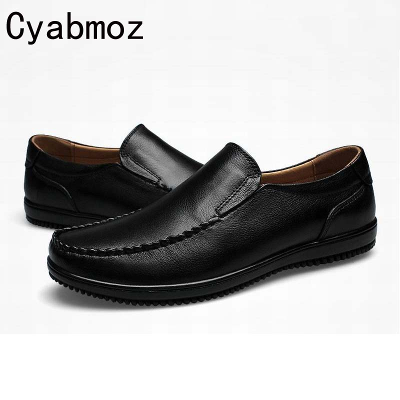 big size 38-47 slip on casual men loafers spring autumn mens moccasins shoes genuine leather men's flats shoe mocasines handmade dekabr new 2018 men cow suede loafers spring autumn genuine leather driving moccasins slip on men casual shoes big size 38 46