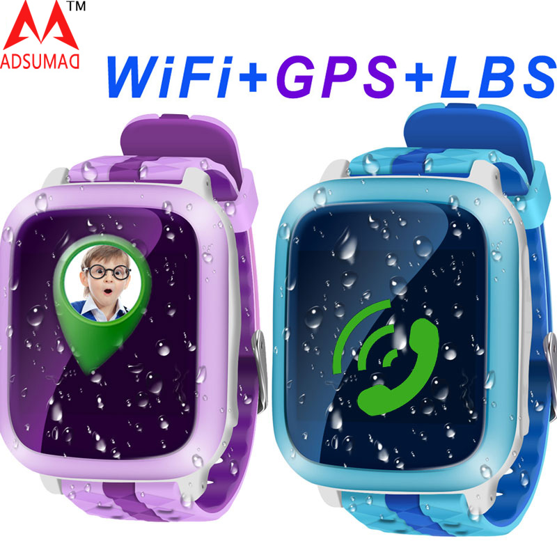 Original DS18 Kid Children Smart Watch Safe Phone GPS+WiFi+SOS Call Locator Tracker Anti lost Support SIM Card waterproof ...