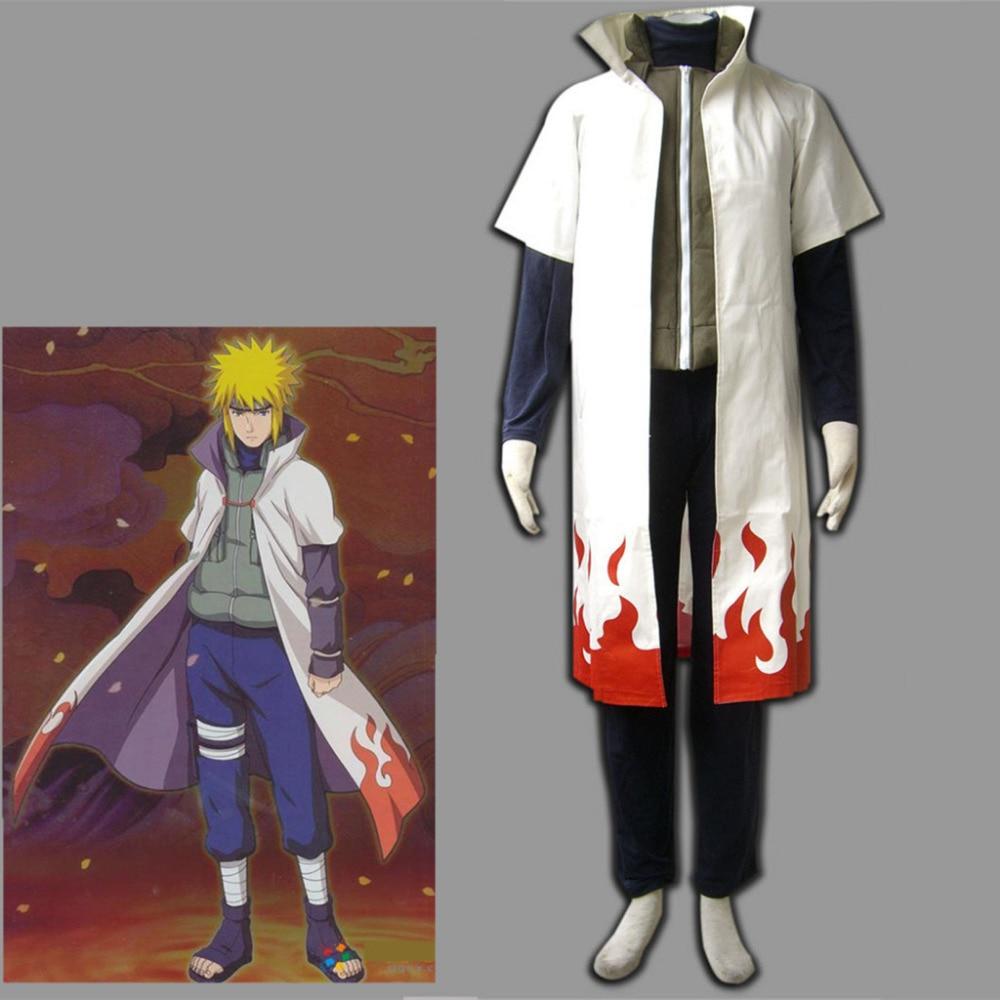 NARUTOS Namikaze Minato Cos Cosplay Costume White Cloak 5 size Free shipping