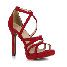 купить Sexy Party Open Toe Stiletto Ankle Strap Rome Women Sandal Scarpe da Donna Sandali Tacco Alto a Spillo Nuziale Sposa YJ0640A-4h дешево