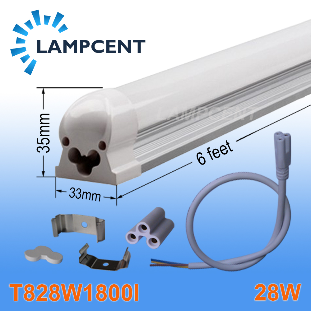 50/Pack LED Integrated Tube T8 6FT 28W 110-277Vac Surface Mounted With Accessory global elementary coursebook with eworkbook pack
