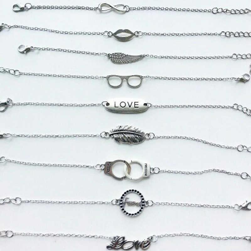 Bransoletka srebrna kolorowa bransoletka srebrna biżuteria bransoletka mężczyźni kobiety biżuteria rower fajna bransoletka łańcuch NS209
