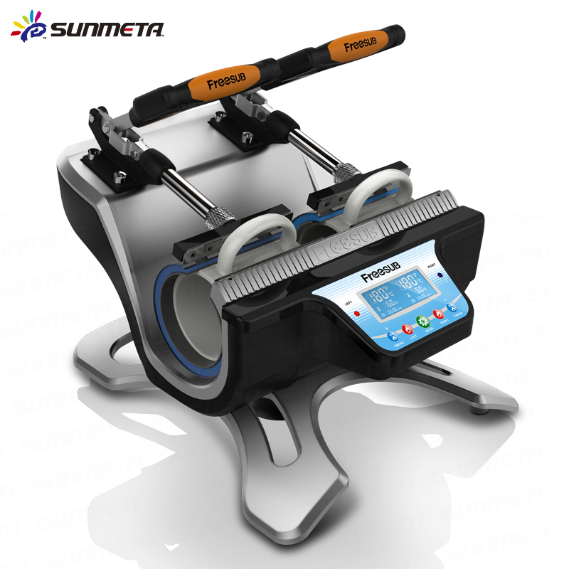 FREE SHIPPING Double Station Mug Press Heat Press Machine Mug Cup Sublimation Transfer Printing