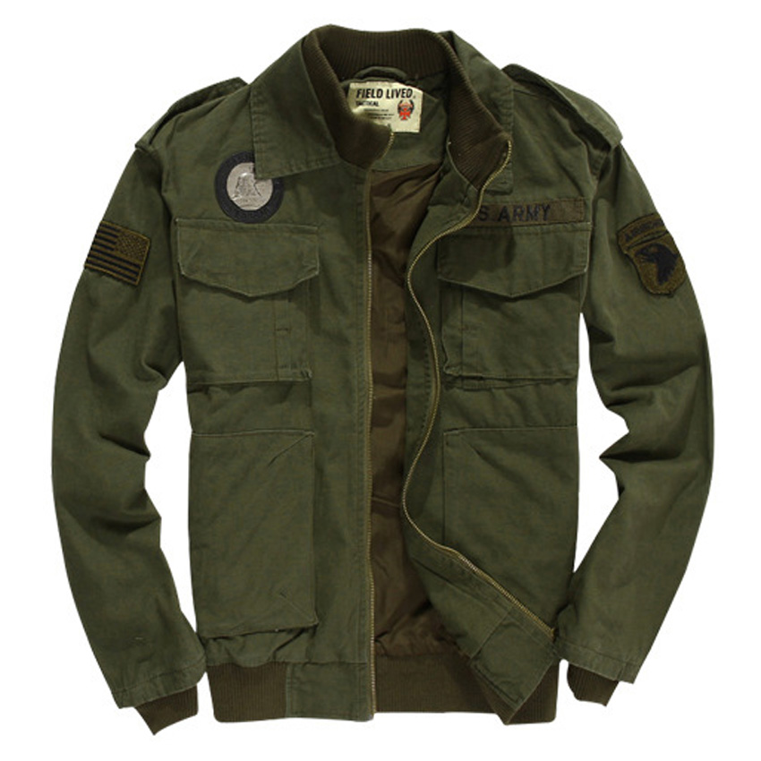 2017 Spring thin 2 color Mens flying jacket, Solid fashion casual flight jacket for men Size S-3XL dark Army green jacket 175z