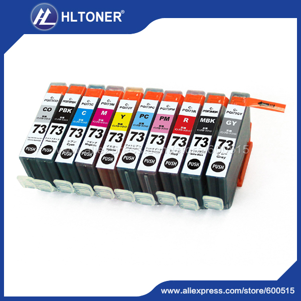 janpan version 10pcs/set ink cartridge Canon PGI-73  PGI73 compatible canon PIXMA Pro-10
