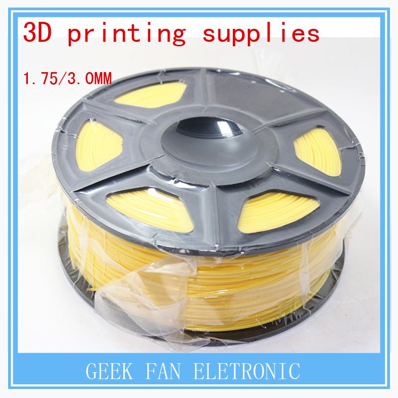 ФОТО 3d printing supplies YELLOW  color  1.75mm 3mm consumables 3d print pla three dimensional material 1kg