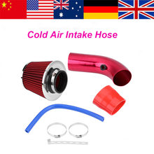 76mm aluminium Koude Luchtinlaatslang 3 Inch Universele Auto Cold Air Intake Filter Inductie Tuinslang Kit rode Turbo(China)